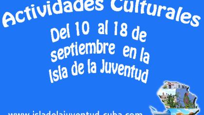 Actividades del 10 al 18 septiembre